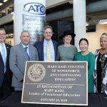 """Daytona State College renamed its College of Workforce and Continuing Education in honor of Mary Brennan Karl, founder of Volusia County's first vocational school. A formal ceremony recognizing the """"Mary Karl College of Workforce and Continuing Education"""" was held Thursday, January 23, at DSC's Advanced Technology College."""