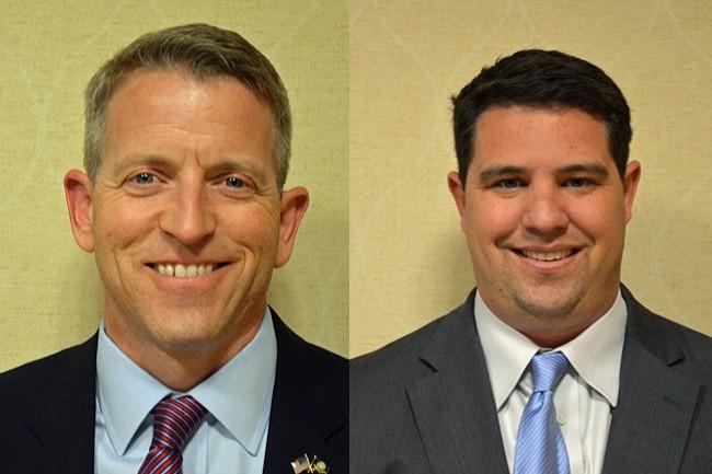 Paul Renner, left, and Travis Hutson. (© FlaglerLive)