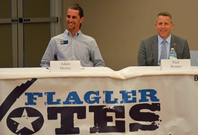 Paul Renner, right, spent $264,000 so far in his House race. Adam Morley, his opponent,