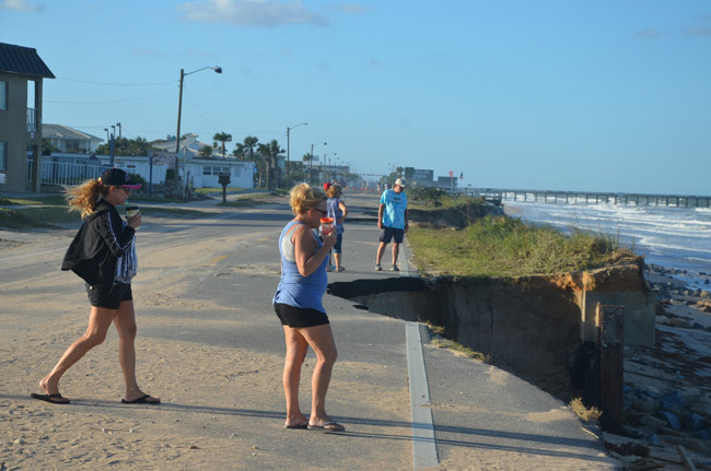 What beach protection is seeking to stop in Flagler Beach. But it's been a recurring battle rather than a winnable one. (© FlaglerLive)