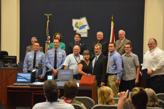 A prodigal moment at the County Commission. Click on the image for larger view. (© FlaglerLive)
