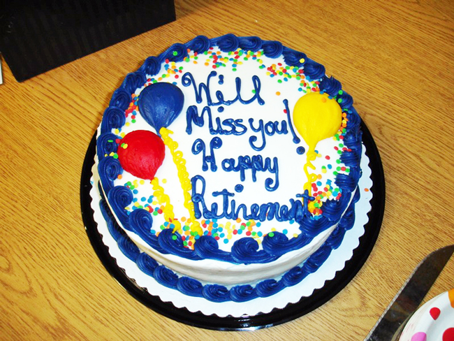 You'll have to pay for the cake, too. (Amy Kearns)