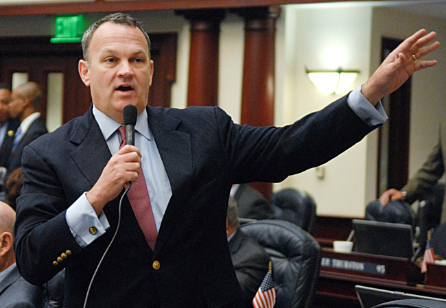 Richard Corcoran, the Land-O-Lakes Republican, chairs the House panel that may have signaled the death of Medicaid expansion in Florida, despite Gov. Rick Scott's and other experts' support of expansion. (Florida House)