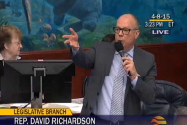Rep. David Richardson, the Legislature's only openly gay member, tried repeatedly but unsuccessfully to alter the wording of a bill he considers discriminatory. (Florida Channel)