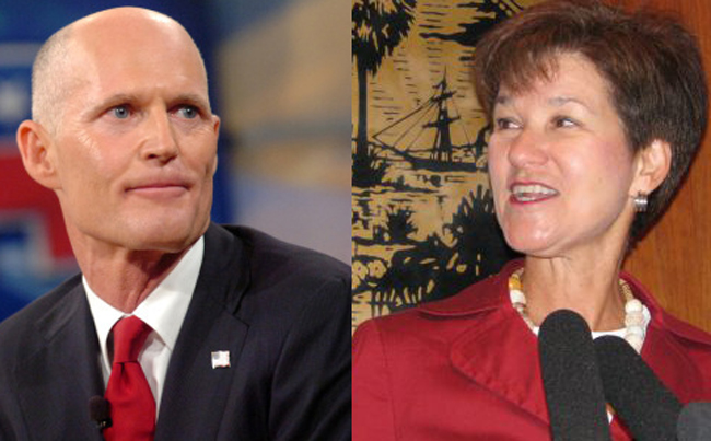 rick scott alex sink health care issues