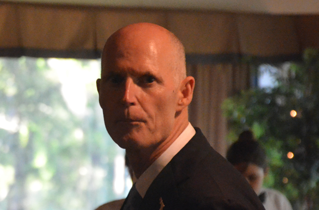 Can Gov. Rick Scott empathize? (© FlaglerLive)