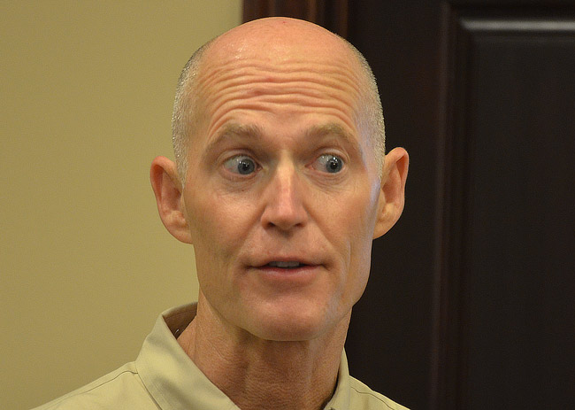 gov. rick scott pee urine test drug tests