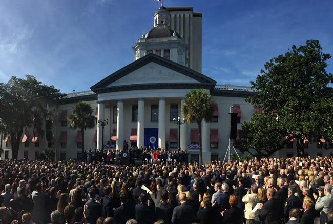 Throngs turned up for Rick Scott's second inaugural ceremony. (Facebook)