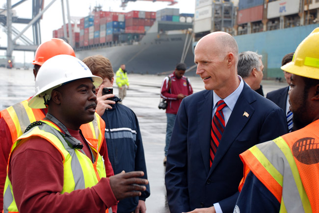 Gov. Rick Scott's jobs agenda is getting push-back from lawmakers in his own party. (Jaxport)