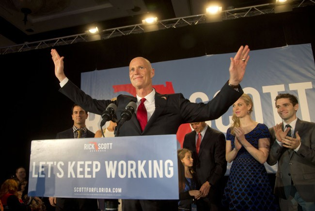 gov. rick scott jobs economy