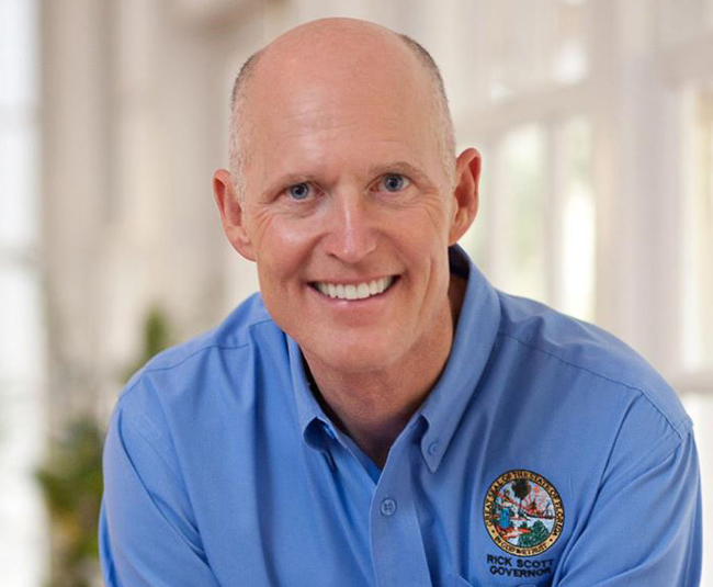 Battling a persistently poor image, Gov. Rick Scott for months has been projecting a new, improved, brighter Scott--including portraits like the one above, from his Facebook page--culminating in his most generous budget to date, which he unveiled today.