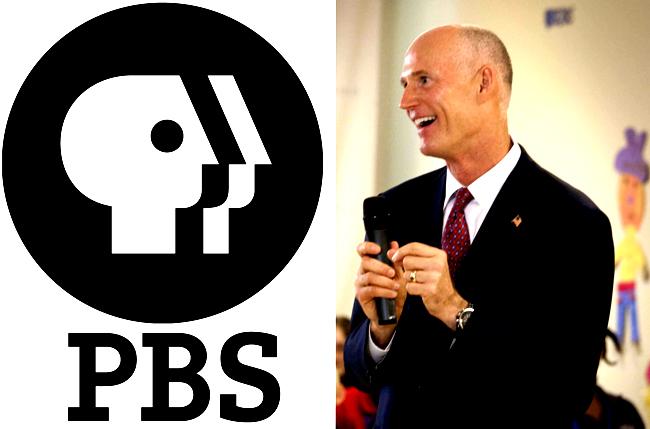 florida gov. rick scott pbs npr public broadcasting slahing budget cuts veto