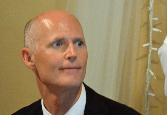 His eyes on re-election, Gov. Rick Scott made tax cuts a centerpiece of his budget this year. (© FlaglerLive)