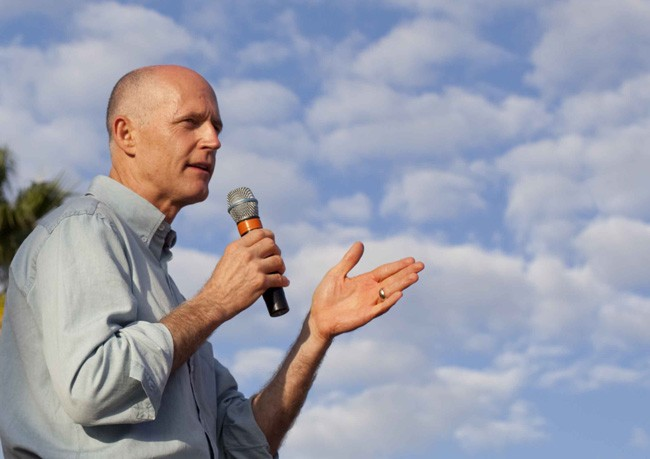 Rick Scott's understanding of how taxes affect Floridians is a bit cloudy. (Rick Scott/Flickr)