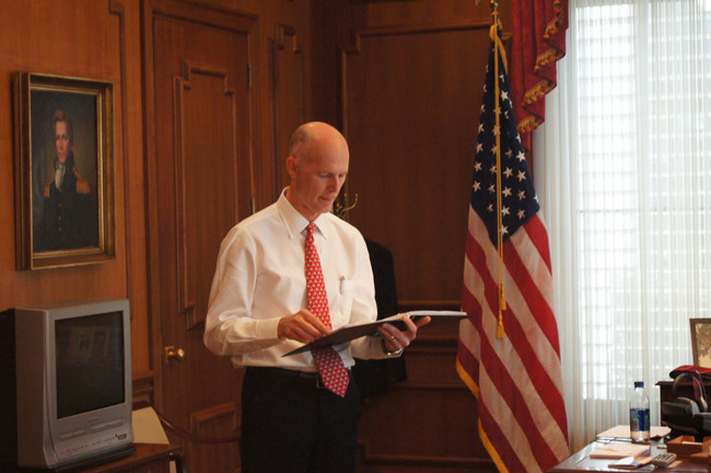 Scott is rewriting the Book of Scott. (Gov. Scott)