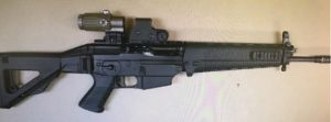 An assault rifle was among the weapons recovered. (FCSO)