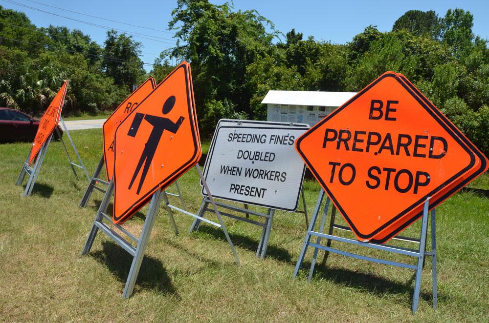Road work ahead. (© FlaglerLive)