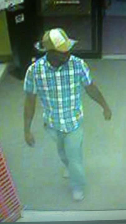 The robbery suspect. Click on the image for larger view.