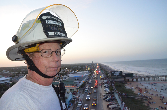 Robbie Creal, the once and current Flagler Beach Fire Chief. (© FlaglerLive)
