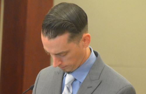 Robert Barry after the verdict. (© FlaglerLive)