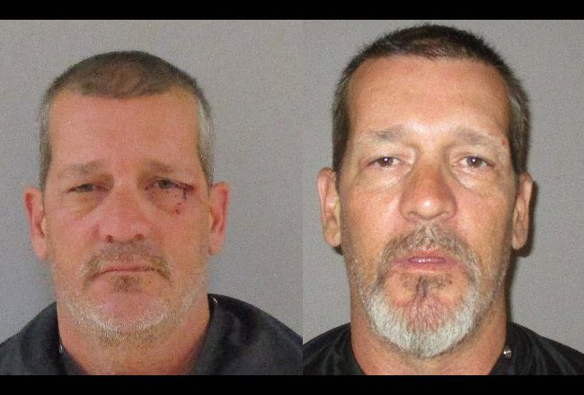 Robert Brandon's two most recent booking photos at the Flagler County jail.