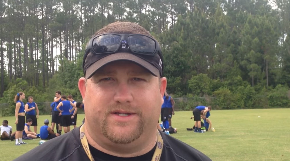 Robert Ripley, a special education teacher at Wadsworth Elementary and a district faculty member since 2004, in a 2015 screen capture from a Florida High School 7v7 Association video, when he was the Matanzas High School football coach.