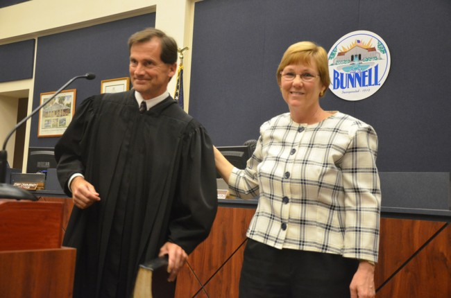 Judge Craig and Mayor Robinson. (c FlaglerLive)