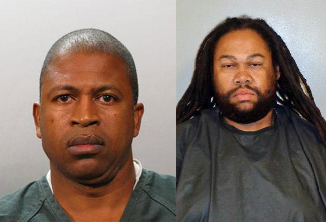 Alfonso Rock, left, was arrested last November. Myron Vanzel Brown was booked at the Flagler County jail on Monday in connection with the school bus thefts last July from the Flagler Palm Coast High School bus depot.