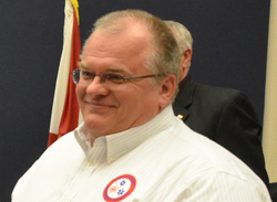 Rolf Preuss, Flagler County's 911 coordinator and radio systems manager. (© FlaglerLive)