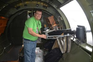 In a B-17 Flying Fortress in 2015. (© FlaglerLive)