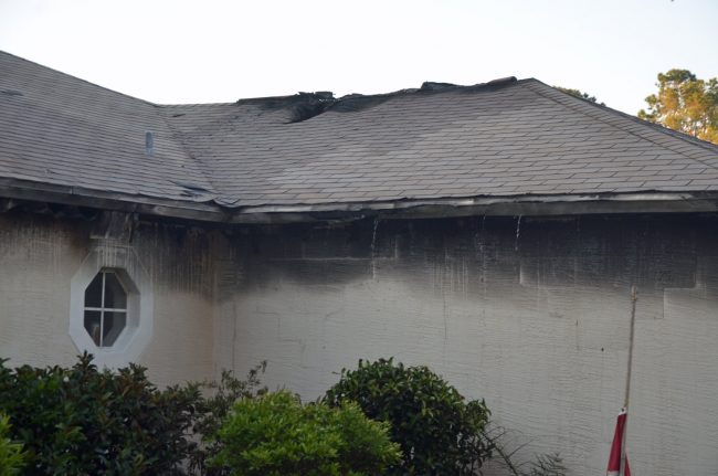 roof damage fire