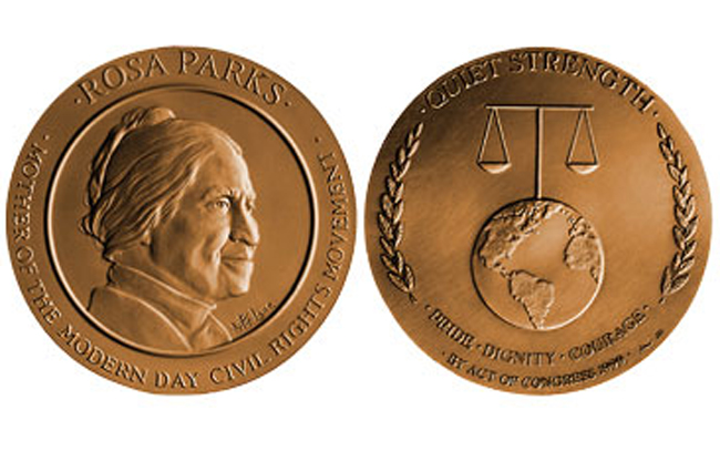 Rosa Parks Congressional Gold Medal, 2005