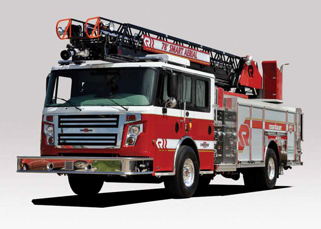 A quint Rosenbauer Viper similar to the one Flagler Beach Fire Captain Bobby Pace is proposing that the city buy this year.