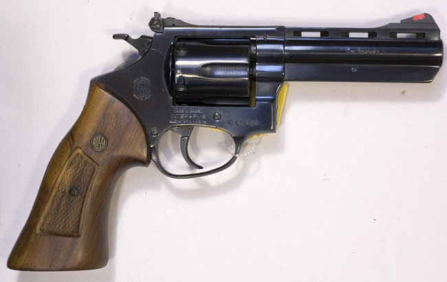 A .38-caliber Rossi model revolver similar to the one seized from a 70-year-old woman, for safekeeping, by Flagler County Sheriff's deputies last Friday, as the woman was hallucinating.