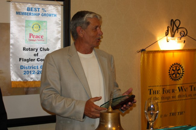Joe Newman received the Spirit of Rotary Award. Click on the image for larger view. (Rotary Club)