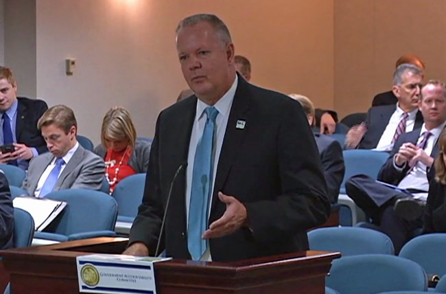 Flagler Executive Airport Roy Sieger in his appearance before Paul Renner's Ways and Means Committee Wednesday in Tallahassee.