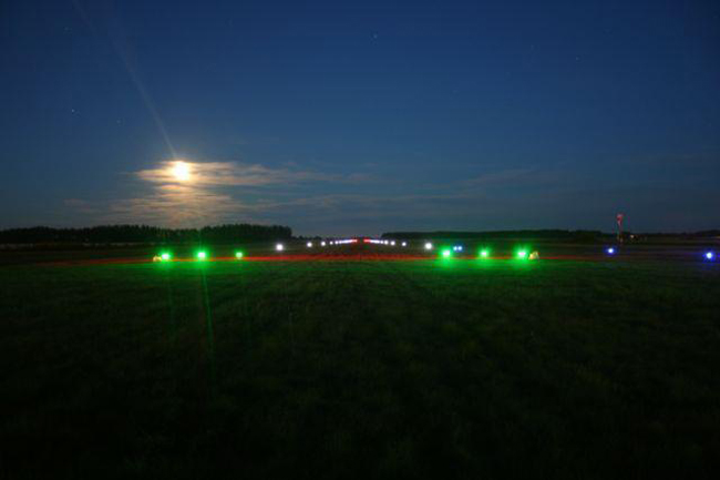 Runway lights are among the products developed by Aveo Engineering. (Facebook)