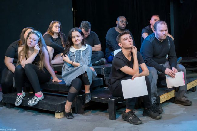 "Some of the cast of the City Repertory Theatre production of ""Spring Awakening"" includes, clockwise from front: Agata Sokolska, Alma Rugg, Lora Thompson, Savanna Dacosta, Beau Wade, Kelvin Oats, Garrett Marinconz, Alex Loucks and Gabriel Auletti. (Mike Kitaif)"