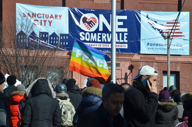 A rally in defense of sanctuary cities. (Chris Devers)