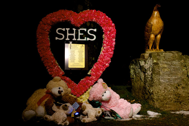 A memorial for the children of Sandy Hook Elementary School in Newtown, Conn. (Andrew Gardecki)