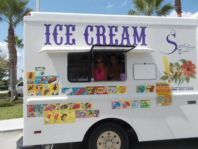 Sandy Kinney's ice cream truck is a beloved fixture in the city, but it is virtually the only roving food vendor in town, and no problems have been associated with it. (Facebook)
