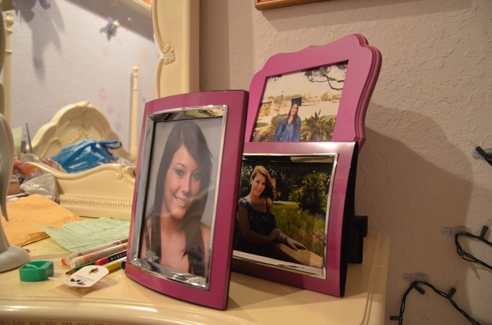 Portraits of Savannah Deangelis in her bedroom, as preserved by her parents. (© FlaglerLive)