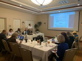 The Flagler County School Board was in a day-long 'retreat' at the Hilton garden Inn in Palm Coast today, discussing a wide range of issues, options and goals. (© FlaglerLive)