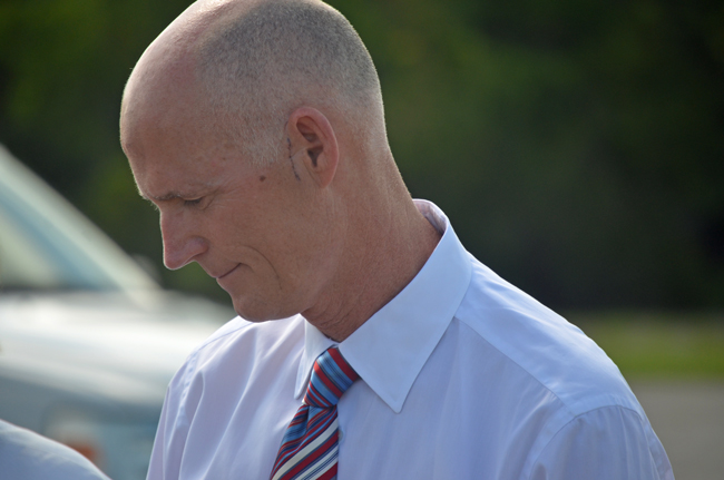 Goc. Rick Scott is taking directions from his tea party base on Common Core. (© FlaglerLive)