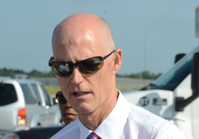 Gov. Rick Scott has not been able to quiet the fury over the way FDLE Chief Gerald Bailey lost his job. (© FlaglerLive)