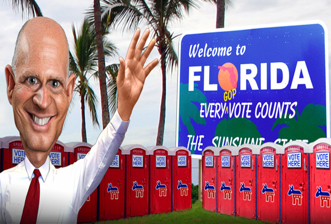 Governor Vulnerable welcomes you. (DonkeyHotey)