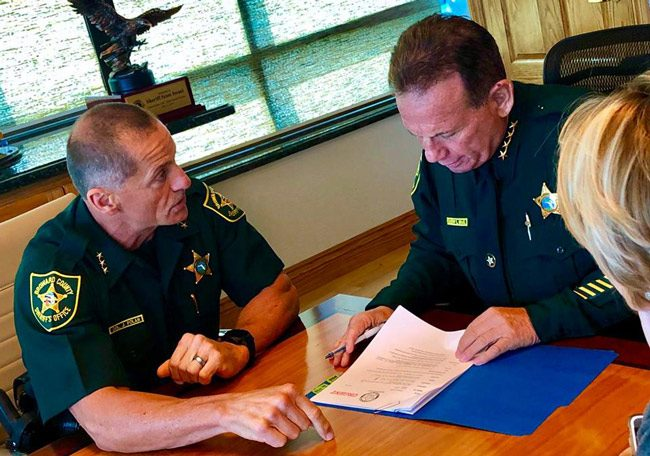 Broward Sheriff Scott Israel, right. (Facebook)