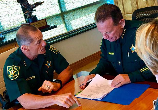 Broward Sheriff Scott Israel, right. (Facebook)