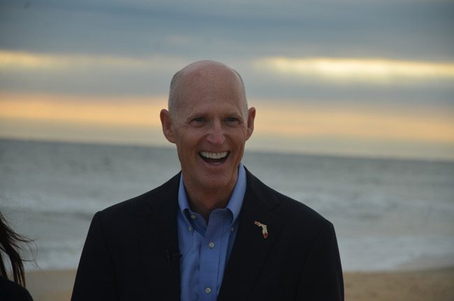 Gov. Rick Scott appears set to announce his run for U.S. Senate in two weeks. (© FlaglerLive)