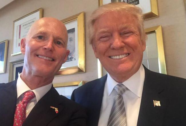 donald trump rick scott selfie jerusalem